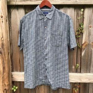 TOMMY BAHAMA | SHIRT GRAY (CHEST 22 INCHES)